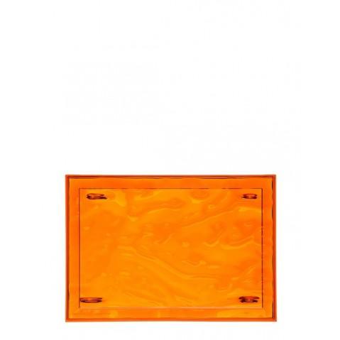 Plateau DUNE de Kartell, Orange, L.55 X H.3 X P.38
