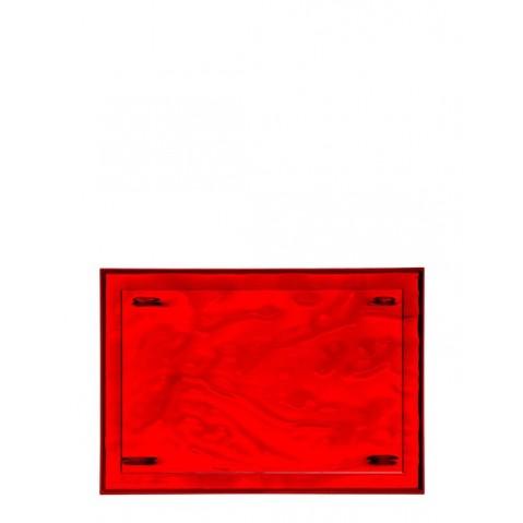 Plateau DUNE de Kartell, Rouge, L.46 X H.2.5 X P.32