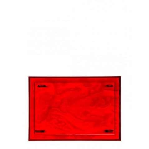 Plateau DUNE de Kartell, Rouge, L.55 X H.3 X P.38