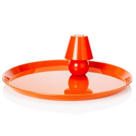 Plateau Snacklight Ø 55 cm / Avec lampe LED aimantée de Fatboy, Orange