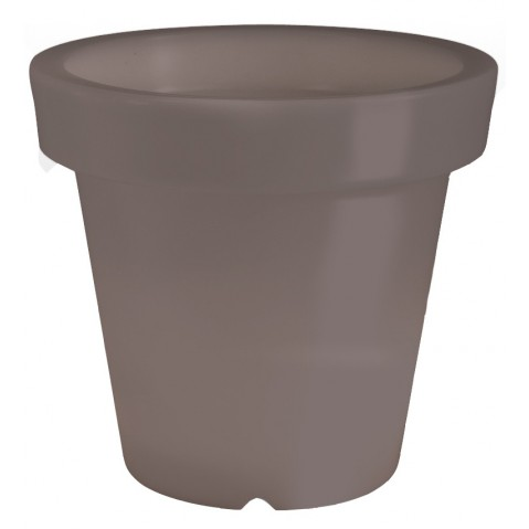 Pot lumineux BLOOM ! H.100 cm taupe