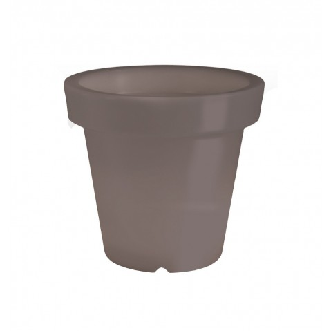 Pot lumineux BLOOM ! H.40 cm taupe