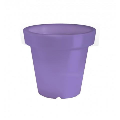 Pot lumineux BLOOM ! H.40 cm violet