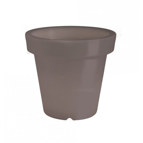 Pot lumineux BLOOM ! H.60 cm taupe