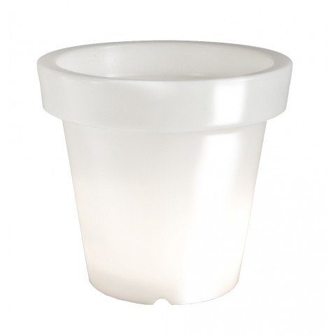 Pot lumineux BLOOM ! H.90 cm blanc