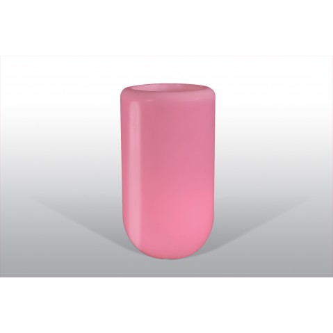 Pot lumineux Bloom Pill H.70 cm rose
