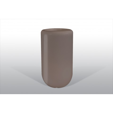 Pot lumineux Bloom Pill H.70 cm taupe
