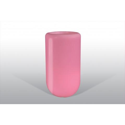 Pot lumineux BLOOM Pill H.90 cm rose