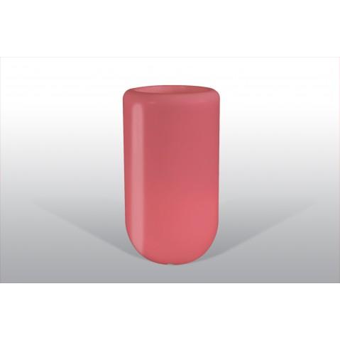 Pot lumineux BLOOM Pill H.90 cm rouge