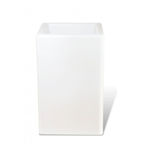 Pot lumineux BLOOM SQUARE H.80 cm blanc