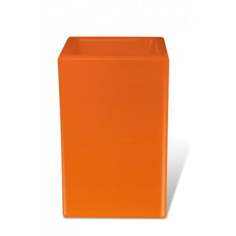 Pot lumineux BLOOM SQUARE H.80 cm orange
