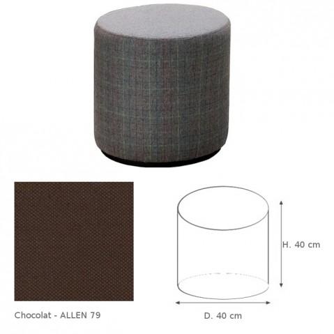 Pouf COLLIN de Marie's Corner chocolat Allen 79
