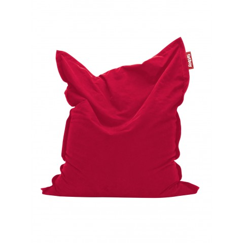 Pouf The ORIGINAL STONEWASHED de Fatboy rouge