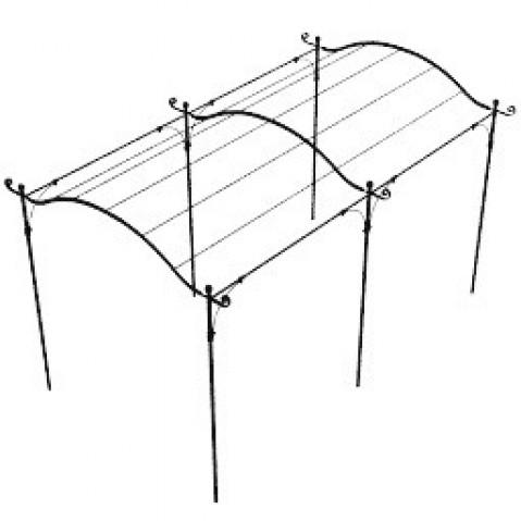 Pergola SOLAIRE autoportée courbée de Unopiu', 2 tailles, 2 options