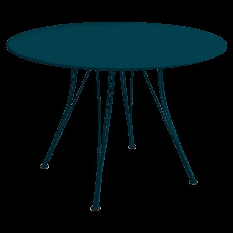 Table ronde RENDEZ-VOUS de Fermob, bleu acapulco