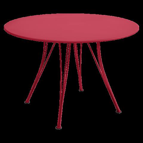 Table ronde RENDEZ-VOUS de Fermob, Rose praline