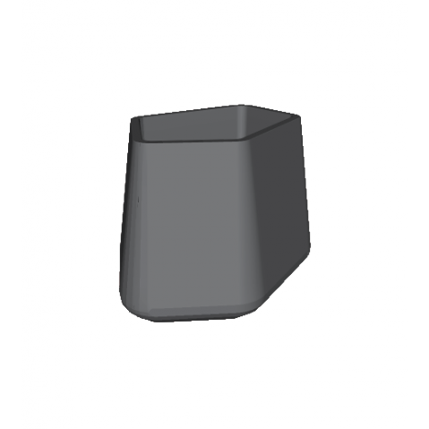 ROCK GARDEN Pot modulaire - SMALL Qui est Paul Gris Anthracite