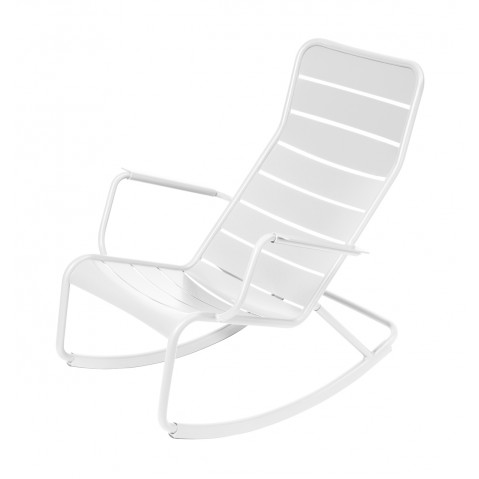 Rocking chair LUXEMBOURG de Fermob-Blanc coton