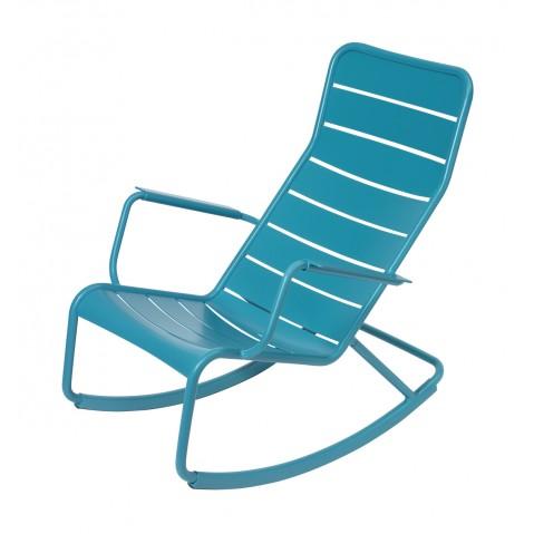 Rocking chair LUXEMBOURG de Fermob-Bleu turquoise