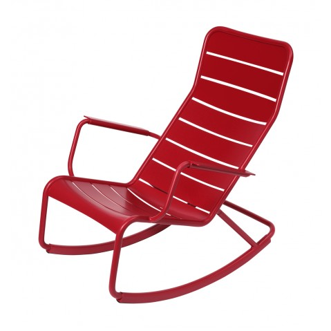 Rocking chair LUXEMBOURG de Fermob-Coquelicot
