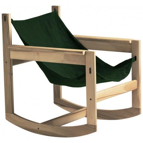Roking-chair PELICANO de Objekto, Vert, Structure en chêne