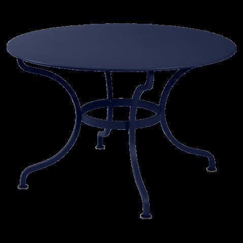 Table ronde ROMANE 117 cm de Fermob, Bleu abysse