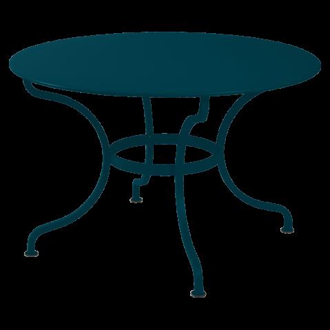 Table ronde ROMANE 117 cm de Fermob, bleu acapulco