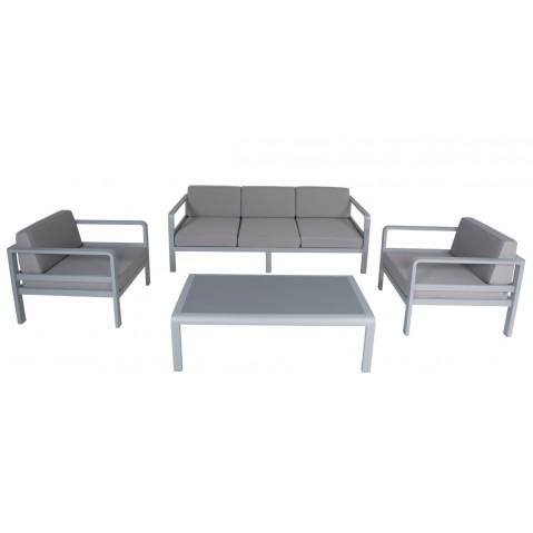 Salon d'extérieur EDOUARD II, gris argent et gris
