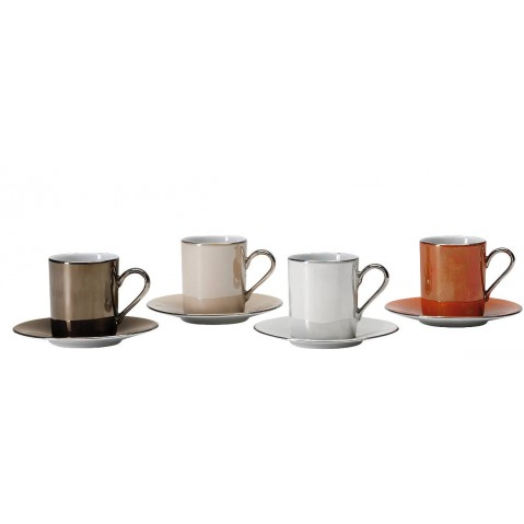 Set de 4 tasses à café assorties ZANZI de LSA