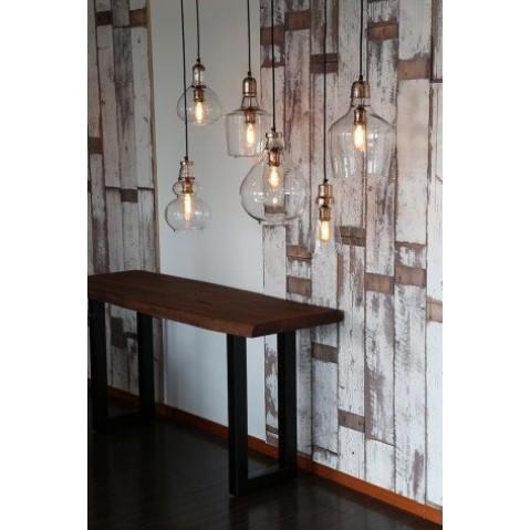 suspension sage en verre et nickel. Black Bedroom Furniture Sets. Home Design Ideas