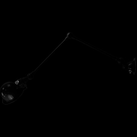 Applique SIGNAL réflecteur Ø10 de Jieldé avec 2 bras articulés, Noir martelé