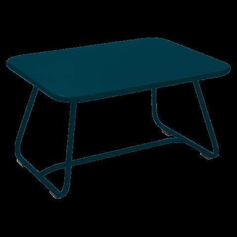 Table basse SIXTIES de Fermob, bleu acapulco