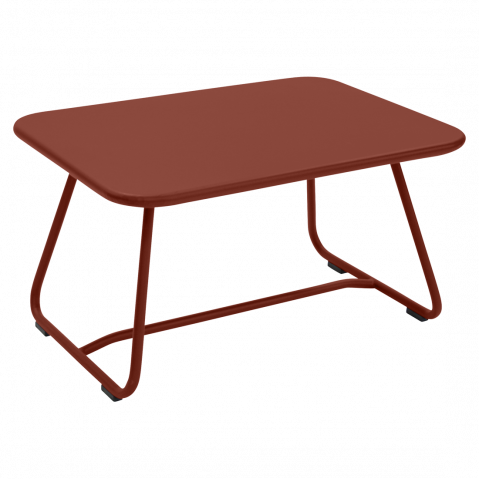 Table basse SIXTIES de Fermob, ocre rouge