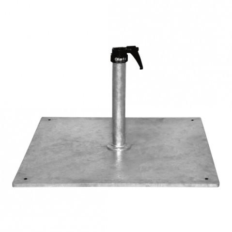 Socle en acier Z 40 kg de Glatz D.48-55 mm