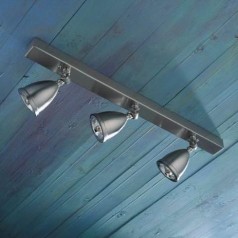 Spot orientable Nautic LILLEY RAIL 600mm avec 3 shades bronze nickelé mat