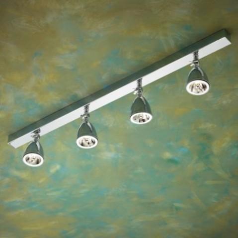 Spot orientable Nautic LILLEY RAIL 900mm avec 4 shades bronze chromé