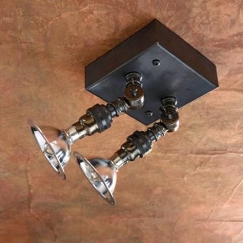 Spot orientable Nautic LILLEY SPOT TWIN bronze antique
