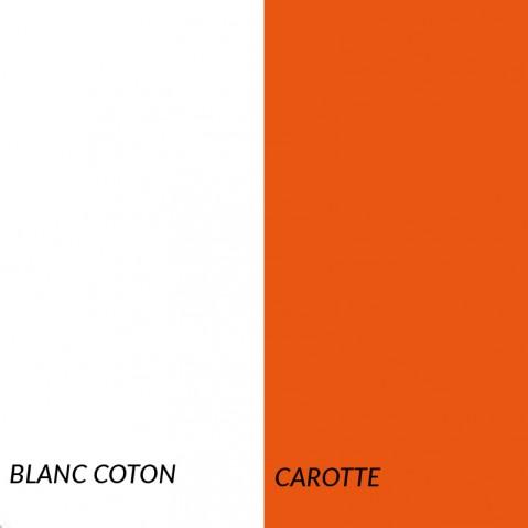 Superlounger SAINT TROPEZ de Fermob, Blanc coton/Carotte