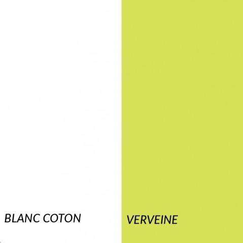Superlounger SAINT TROPEZ de Fermob, Blanc coton/Verveine