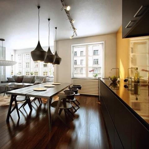 suspension beat light fat de tom dixon cm noir. Black Bedroom Furniture Sets. Home Design Ideas