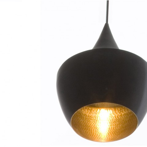 Suspension BEAT LIGHT FAT de Tom Dixon D.24 cm en noir