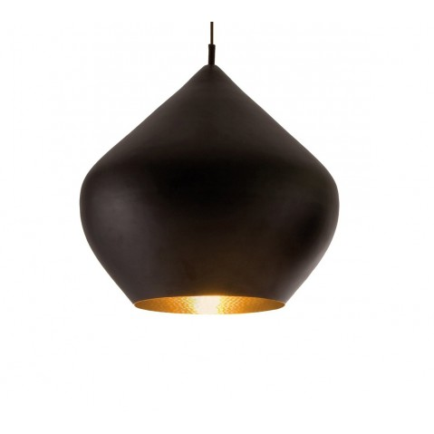 Suspension BEAT LIGHT STOUT de Tom Dixon D.52 cm noir