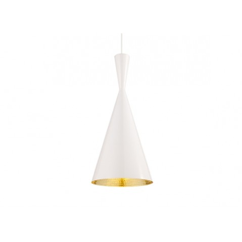 Suspension BEAT LIGHT TALL de Tom Dixon D.19 cm blanc