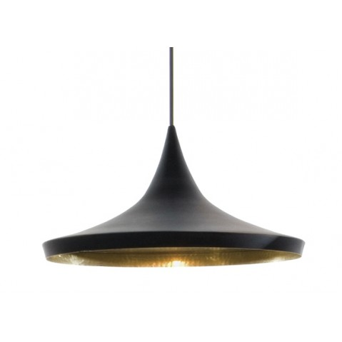 Suspension BEAT LIGHT WIDE de Tom Dixon D.36 cm noir