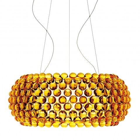 Suspension CABOCHE de Foscarini grand modèle jaune