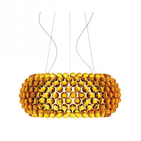 Suspension CABOCHE de Foscarini petit modèle jaune