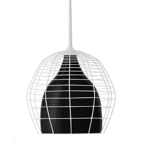 Suspension CAGE PICCOLA de Diesel Foscarini, Blanc-Noir