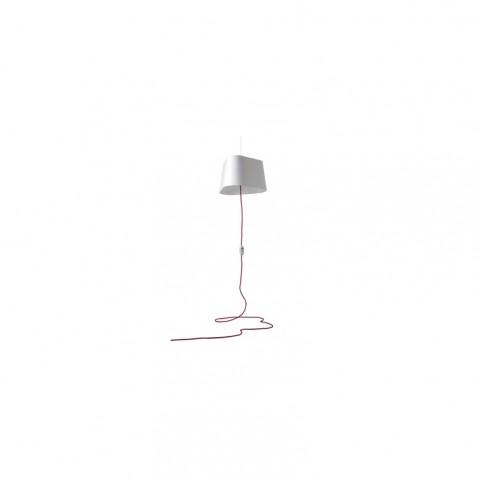 Suspension GRAND NUAGE de Designheure, Blanc / Blanc Fil rouge