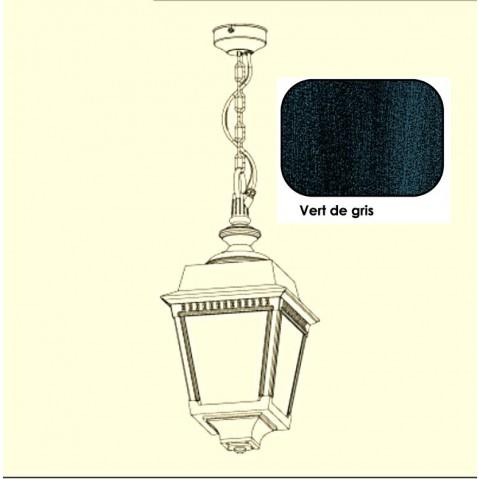 Suspension PLACE DES VOSGES 2 de Roger Pradier, Vert de gris