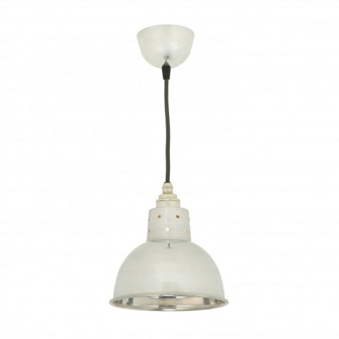 Suspension SPUN avec corde de Davey Lighting, Aluminium poli